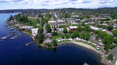 Kirkland Washington Aerial Panorama Stock Footage