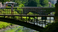 Padua - Iron bridge - stock footage