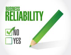 No Business reliability approval sign concept Stock Illustration