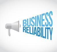 Business reliability loud speaker message Stock Illustration
