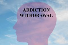 Addiction Withdrawal mental concept Stock Illustration