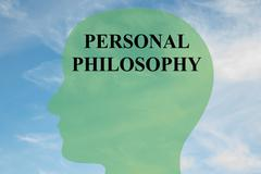 Personal Philosophy concept - stock illustration