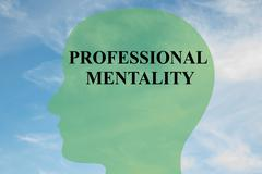 Professional Mentality concept Stock Illustration