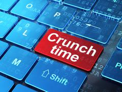 Finance concept: Crunch Time on computer keyboard background Stock Illustration