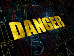 Security concept: Danger on Digital background Stock Illustration