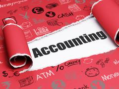 Banking concept: black text Accounting under the piece of  torn paper - stock illustration