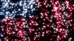 Magic sparkles fairy dust wand particle trail transition US USA stars stripes 4k Stock Footage