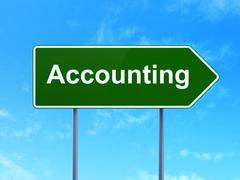 Banking concept: Accounting on road sign background Stock Illustration
