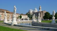 Padua - Prato della Valle - Stock Footage