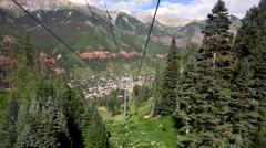 4K Passenger POV Scenic Telluride Colorado Summertime Stock Footage