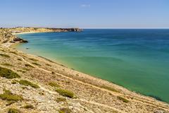 Beautiful beach on the Atlantic Ocean, Algarve, Portugal Stock Photos