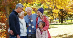 Family with dog outdoors Stock Footage