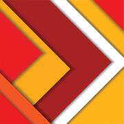 A material design red Stock Illustration
