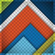 Material design multi coloured Stock Illustration