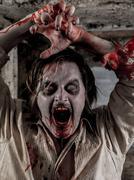 Zombie attack - stock photo