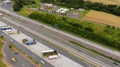 Tank- und Rastanlage (highway rest area) Medenbach Stock Footage