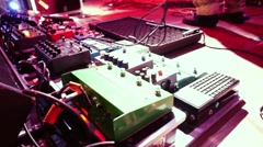 Pro DJ equipment set off in slowmotion after concert. 1920x1080 Stock Footage