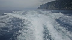 Motorboat Wake Passing Portofino National Park - 25FPS PAL Stock Footage
