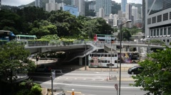 Road and Urban Traffic scene in Hong Kong Stock Footage