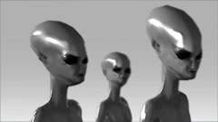 A Group of CGI Aliens - stock footage