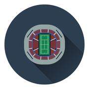 Tennis stadium aerial view icon Stock Illustration