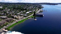 Aerial Kirkland Wa Waterfront Stock Footage