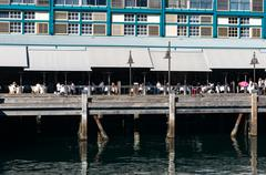 Finger wharf in Woolloomooloo bay. Sydney, Australia Kuvituskuvat
