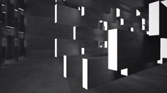 Empty dark abstract concrete room interior. Architectural background.. Stock Footage