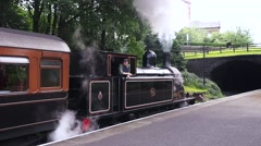 Steam trains at the Keighley and Worth valley Railway vintage weekend, Howarth Stock Footage