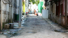 Old and dirty street in Kuala Lumpur Stock Footage