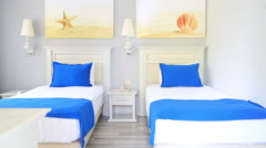 Beautiful Clean Room In Hotel 7 Stock Footage