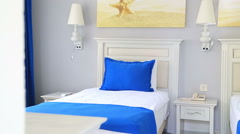 Beautiful Clean Room In Hotel 8 Stock Footage