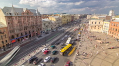 The view from the roof on Ligovsky Prospekt and Moskovsky train station Stock Footage