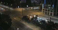 Traffic junction at night; Berlin, Germany Stock Footage