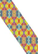 Multicolored Geometric Pattern Abstract Collage - stock illustration