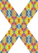Multicolored Geometric Pattern Abstract Collage Stock Illustration