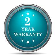 2 year warranty icon. Internet button on white background.. - stock illustration