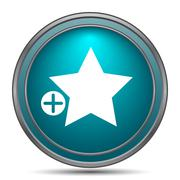 Add to favorites icon. Internet button on white background.. Stock Illustration