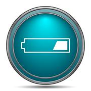 1 third charged battery icon. Internet button on white background.. Stock Illustration