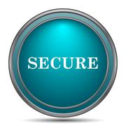 Secure icon. Internet button on white background.. Stock Illustration
