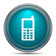 Mobile phone icon. Internet button on white background.. - stock illustration