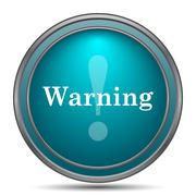 Warning icon. Internet button on white background.. Stock Illustration