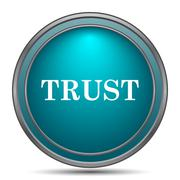 Trust icon. Internet button on white background.. Stock Illustration