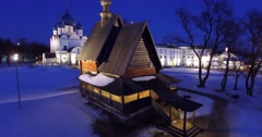View of one of the most ancient russian towns Suzdal, part of the Golden Ring. Stock Footage