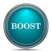 Boost icon. Internet button on white background.. - stock illustration