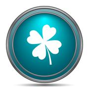 Clover icon. Internet button on white background.. - stock illustration