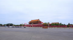 The Gate of Heavenly Peace in Beijing China Stock Footage