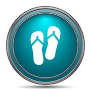 Slippers icon. Internet button on white background.. - stock illustration