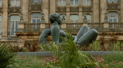 Birmingham, England - Victoria Square. The River statue Stock Footage