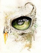 Owl Eye Art - stock illustration